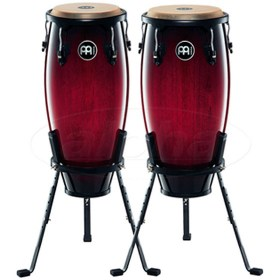meinl-conga-set-wine-red-burst-w-stands-10-11
